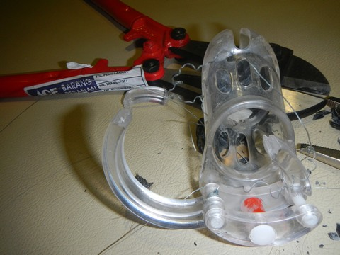 There was great relied as the CB-X Male Chastity Device was cut away from me providing my sexual freedom
