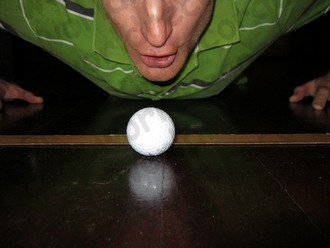 Blowing a golf ball is harder than hitting it with a good quality golf club!