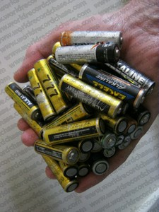 World record-breaking AA batteries held in your hand